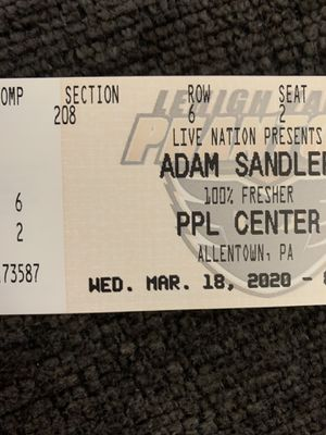 2x ADAM SANDLER Tickets IN ALLENTOWN PA for Sale in Nanticoke, PA