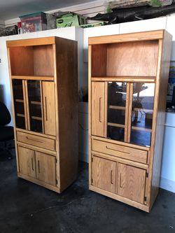 Two Cabinets Solid Wood. for Sale in San Leandro,  CA