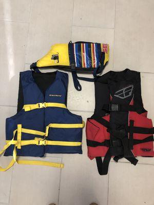 2 adult 1 dog boat ski vests for Sale in Fort Lauderdale, FL