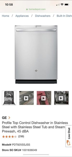 GE new profile Dishwasher in stainless steal for Sale in Pompano Beach, FL