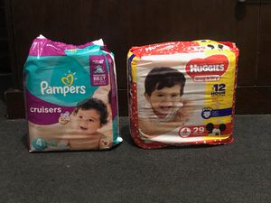 PAMPERS & HUGGIES SIZE 4 BRAND NEW FOR SALE for Sale in Los Angeles, CA