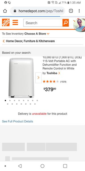 Toshiba AC & Dehumidifier for Sale in San Antonio, TX