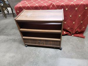 Tv stand with shelves and vhs drawer for Sale in Mooresville, NC