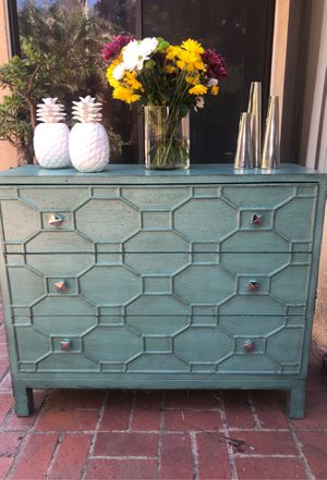 Chest Dresser Commode Trellis Shabby Chic French Farmhouse Provincial for Sale in Burbank, CA