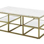 White And Brushed Brass Coffee Table for Sale in Atlanta, GA