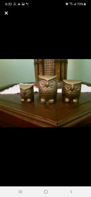 Antique brass owl set of 3 for Sale in Southbridge, MA