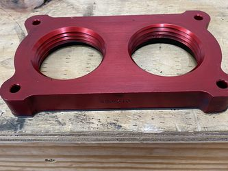 05-09 Mustang GT Airaid Poweraid Throttle Body Spacer - Red for Sale in Sherrills Ford,  NC