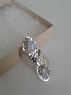 Sterling Silver Moonstone Ring, Size 7 - 8 for Sale in Woodbridge, VA