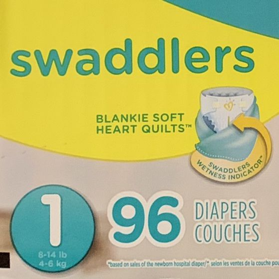 "Pampers Swaddlers Size 1 96 Count ""Super Pack"""