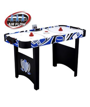 MD Sports 48 Inch Air Powered Hockey Table with LED scorer, Real Air Flow, Easy Assembly, Accessories included, Black/Blue for Sale in Austin, TX