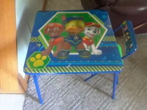 Kids table/1 chair for Sale in Pontiac, MI