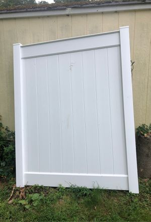 New 6 ft high vinyl privacy fence gate for Sale in Northford, CT