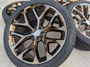 Chevy Silverado Tahoe Suburban Wheels Tires P305 35R24 Rims 305 35 24 for Sale in Matthews, NC