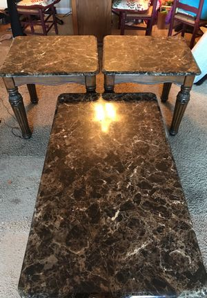 Three antique marble tables for Sale in West Columbia, SC
