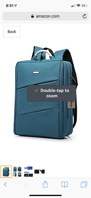 "Bronze Times(TM) Laptop Backpack, Mens Slim Business Travel Computer Bag Fits Under 17"" Laptop & Notebook (15.6 inch, C-Sky Blue) for Sale in Leawood, KS"