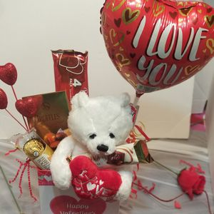 Cute White Love Bear Gift Basket for Sale in Laredo, TX