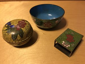Antique Chinese Cloisonne Collection 3 pieces for Sale in Kennesaw, GA