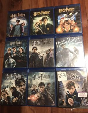 Harry Potter and fantastic beasts Complete 9-Film Collection, Disney marvel Harry Potter DC movies Bluray and dvd collectibles for Sale in Everett, WA