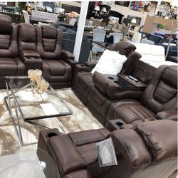 Power Reclining Sofa And Love Seat for Sale in Massapequa,  NY