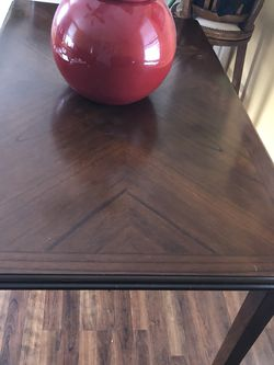 OBO Black/Brown Rectangular Dining Room Table with Chairs for Sale in Kearns,  UT