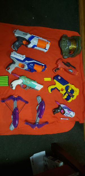 Nerf guns + halo mask for Sale in Arlington, TX