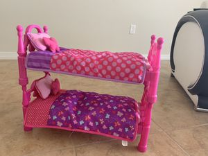 """Bunk beds for 18"""" dolls (fits American girl doll) for Sale in St. Cloud, FL"""