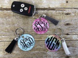 Monogram mermaid keychain with tassel for Sale in Brookhaven, MS