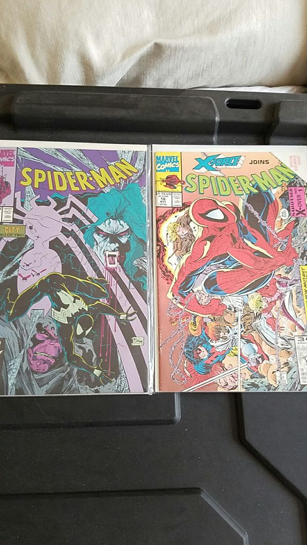 Marvel spiderman x force mcfarlane comic books