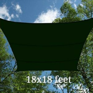 Brand new 18x18 feet huge square sun shade top sail patio pool canopy cover uv protection air circulation for Sale in Montebello, CA