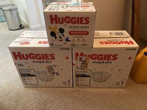 Huggies size 1 for Sale in Stevenson Ranch, CA