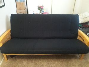 Wood Frame Queen Sized Futon Sofa Bed Couch w Awesome Mattress! for Sale in El Cajon, CA