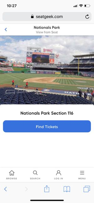 Nationals tickets 04/17/19 for Sale in Washington, DC