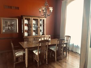 Custom made dining room table and china buffet for Sale in Stow, OH