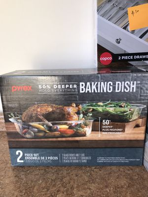 Pyrex baking dish ,2 pieces for Sale in San Diego, CA