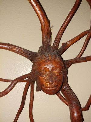 Balinese Sun Goddess Tree Root Sculpture for Sale in Kissimmee, FL