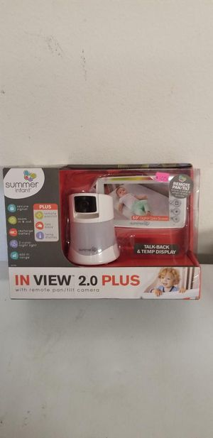 New summer infant in view 2.0 plus with remote pan/ tilt camera for Sale in Norco, CA