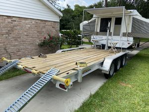 2008 rockwood freedom popup camper/ toy hauler for Sale in Houston, TX
