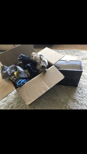 Boys summer clothes 12 mos 6 9 mos 12/18 mos big box full + new car seat protector for Sale in Gresham, OR