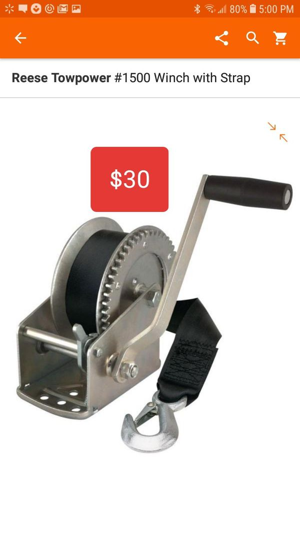 Reese Towpower Winch w/ Strap