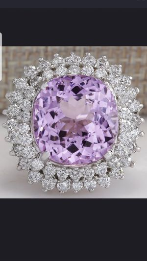 Sterling silver pink and white sapphire ring size 8 for Sale in Dundalk, MD