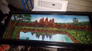 Painting of Angkor Wat poster from Cambodia for Sale in Stockton, CA