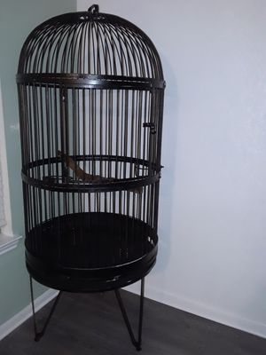 Bird cage with stand no pull out tray for news paper for Sale in Cedar Park, TX