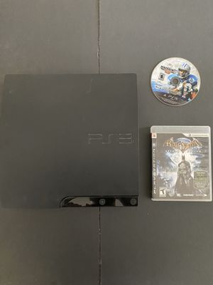 PlayStation 3 PS3 game console only + 2 games Batman + Madden for Sale in Buena Park, CA