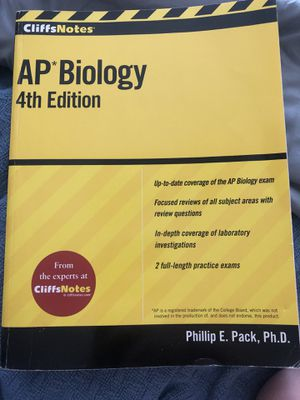 Cliff Notes AP Biology 4th Edition for Sale in Kansas City, KS