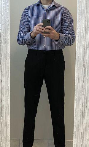 Tommy Hilfiger purple stripes dress shirt - M size for Sale in Annandale, VA
