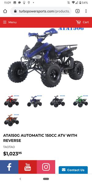 150cc. Tao ATV. On sale at turbopowersports. Wholesale price. Best price for Sale in HUNTINGTN BCH, CA