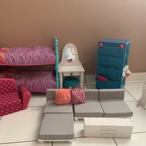 Doll Furniture & Accessories for American Girl, Our Generation Doll for Sale in Miami, FL