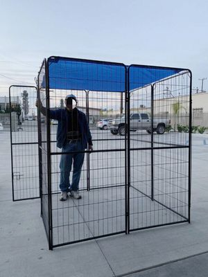 New 72 inch tall x 32 inches wide each panel x 8 panels heavy duty exercise playpen with sun shade tarp cover fence safety gate dog cage crate kennel for Sale in Covina, CA