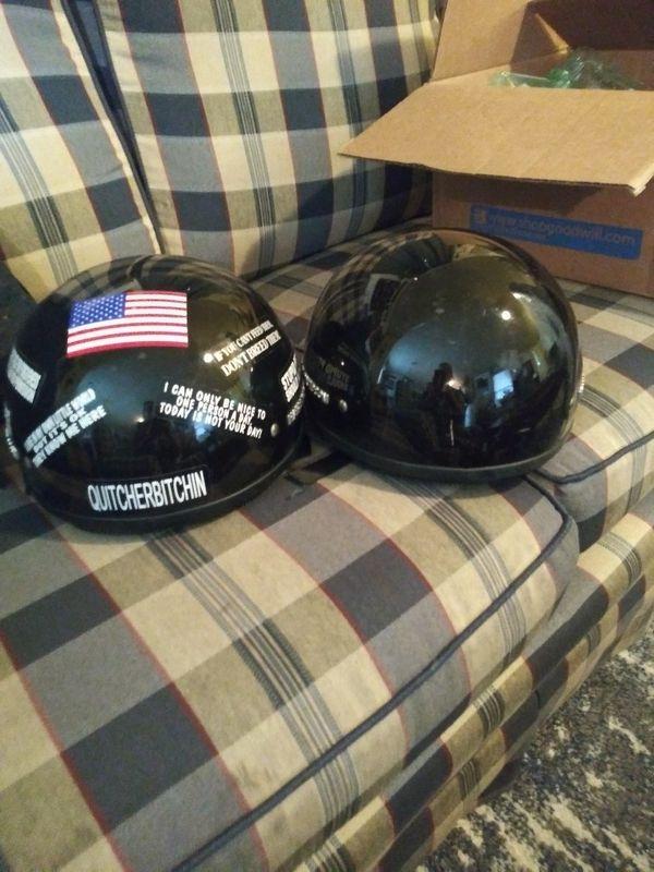 2 Harley Davidson Helmets