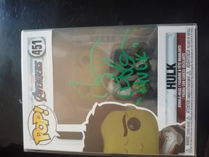 Hulk funko pop signed by mark ruffalo for Sale in Sanger, CA